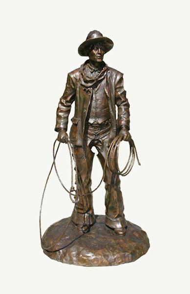 "The Wrangler- monument   Bronze Edition of 15   65"" x 34"" x 34""   $27,000"