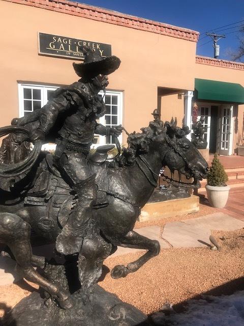 """Vaquero-monument   Bronze Edition of 10   86"""" x 86"""" x 40""""   $49,000"""