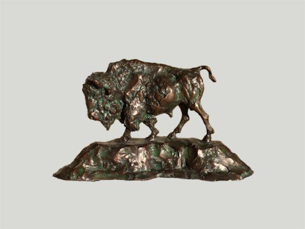 """Bison    5.75"""" x 10.5"""" x 7""""   Bronze   Ltd Edition of 50   $650"""
