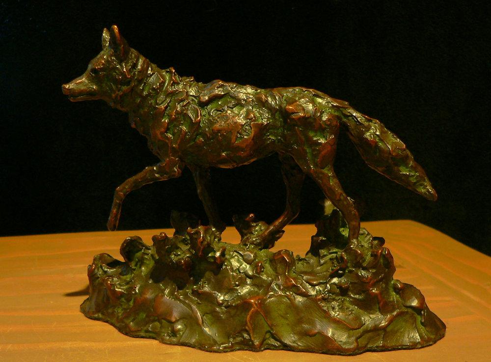 "Coyote   5"" x 7"" x 2.5""   Bronze   Ltd Edition of 30   $650"