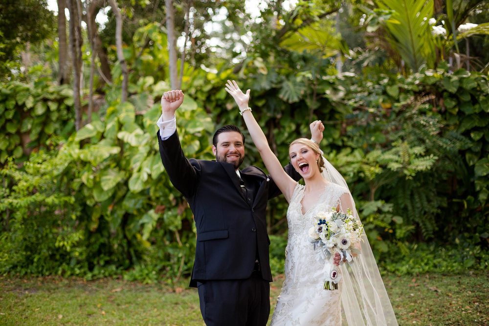 happy bride and groom coral gables florida tiny house photo