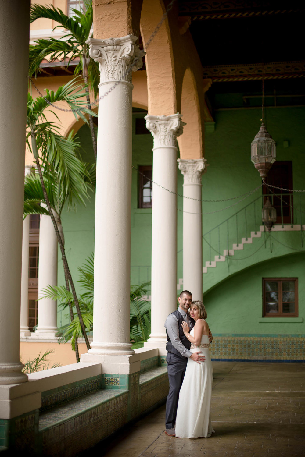kissing bride and groom miami wedding photographer tiny house photo