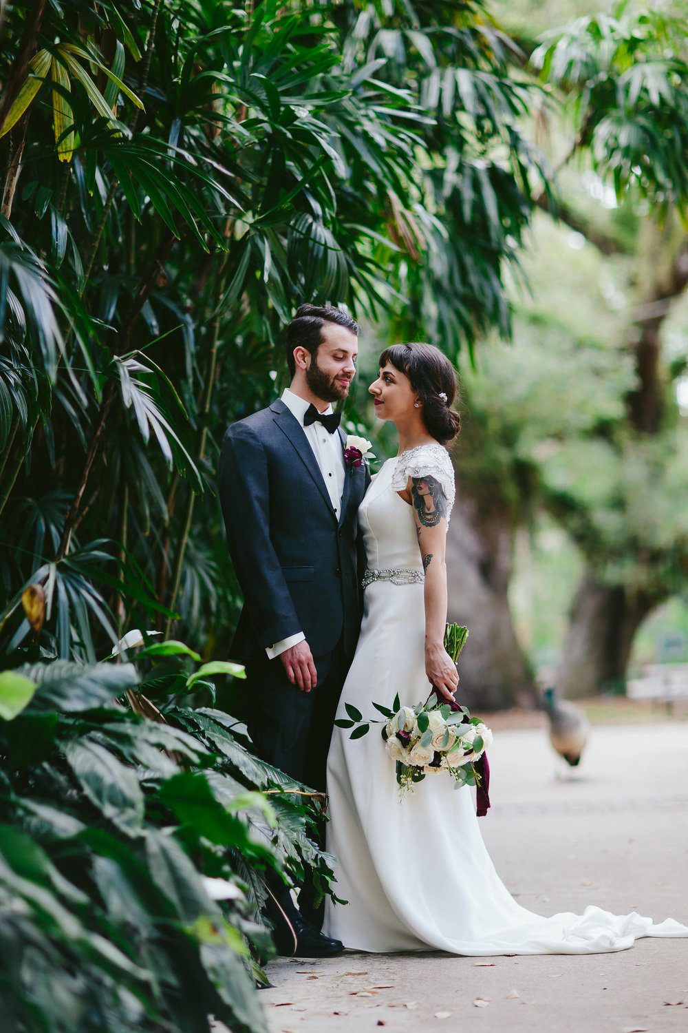 gorgeous bride and groom at flamingo gardens in fort lauderdale florida tiny house photo weddings