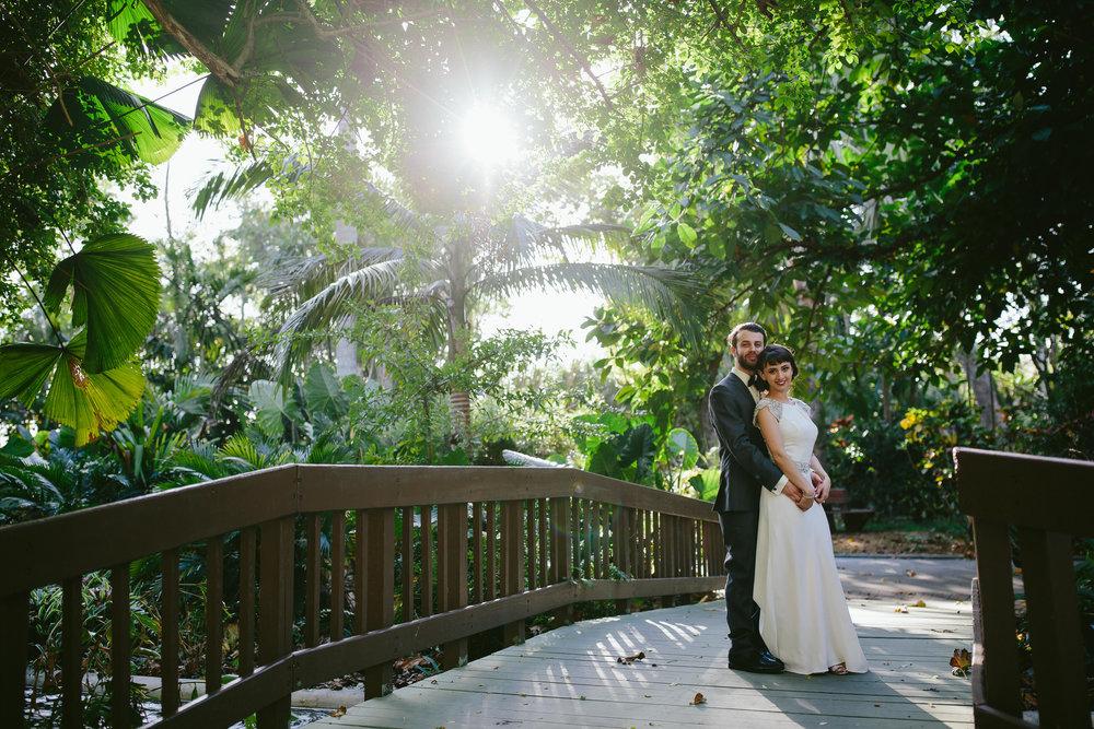 gorgeous flamingo gardens wedding