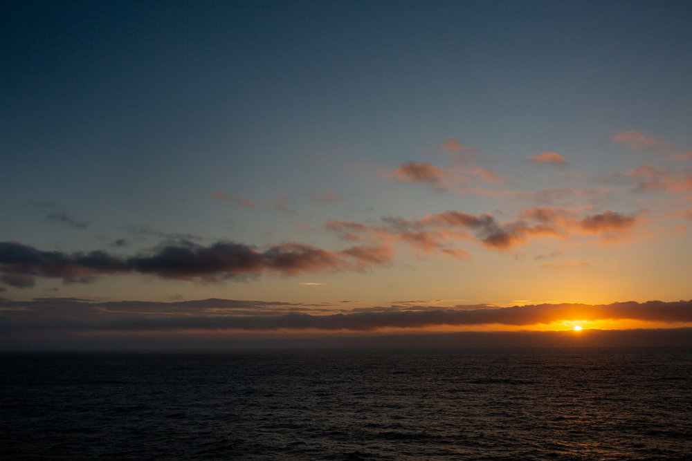 love seeing the sunsets at night and the sunrise the very next day. not something i get to experience very often. having a balcony on a cruise ship is so amazing.