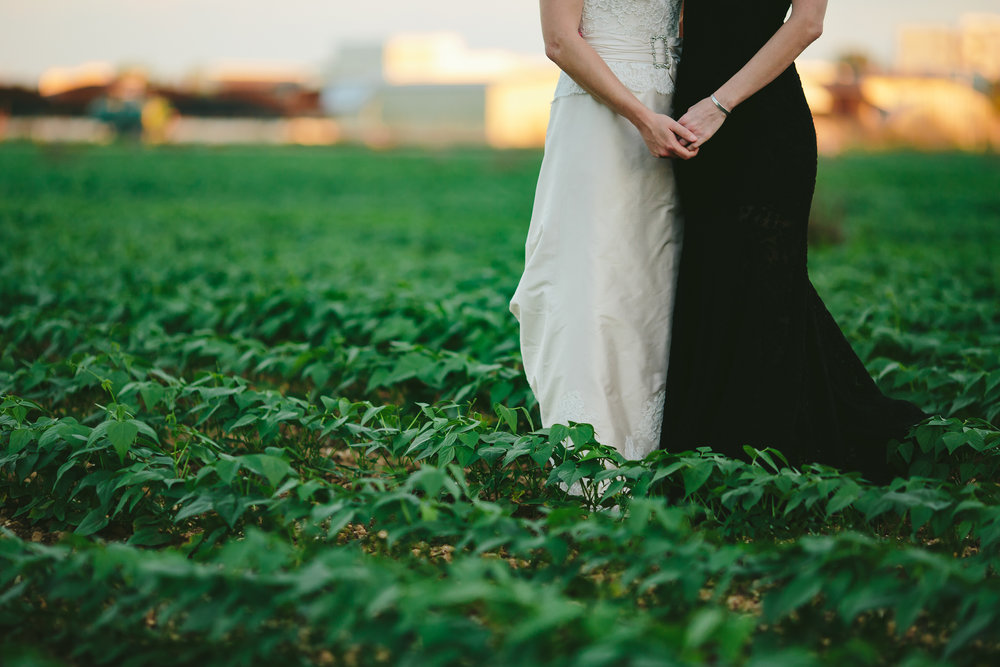 vegan farm wedding tiny house photo