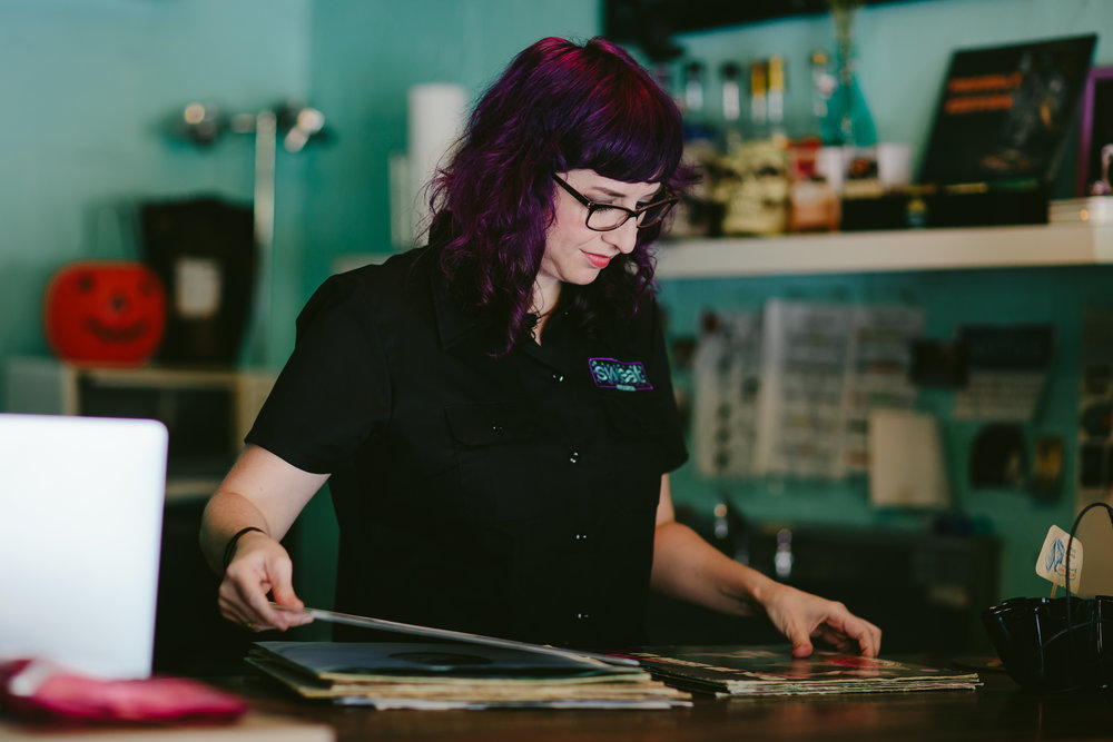 lauren reskin of sweat records in miami, florida photographed by tiny house photo