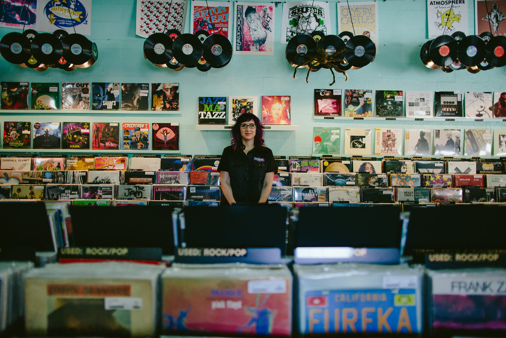 lauren reskin, dj, owner of sweat records in miami, florida photographed by tiny house photo