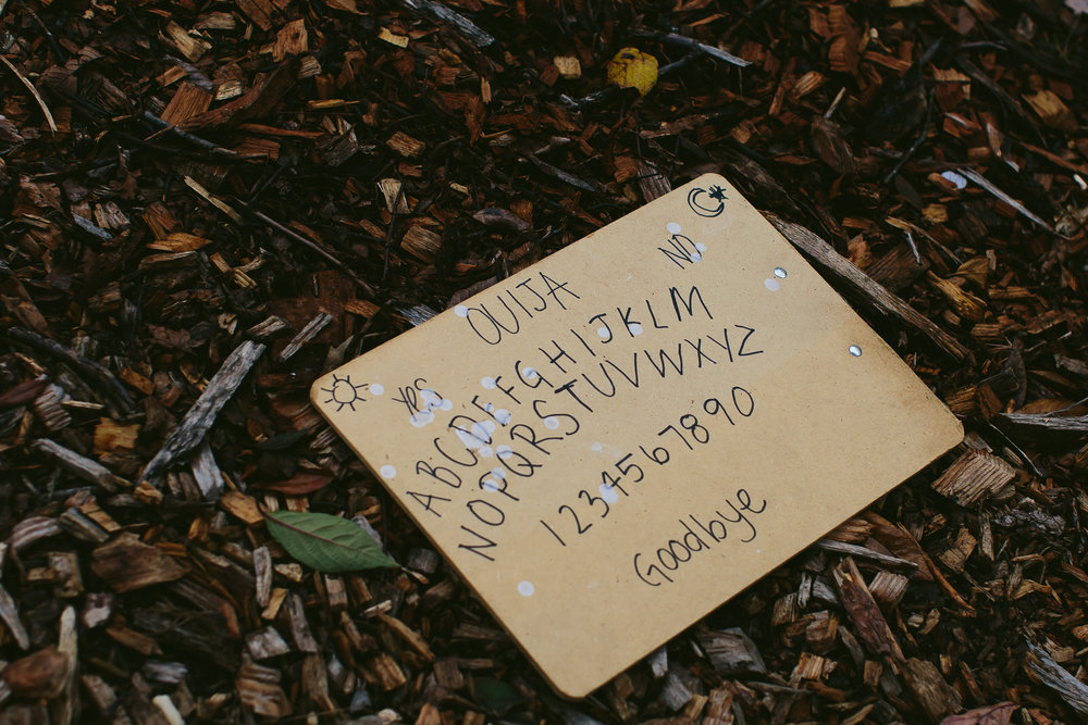ouija board in the woods super creepy