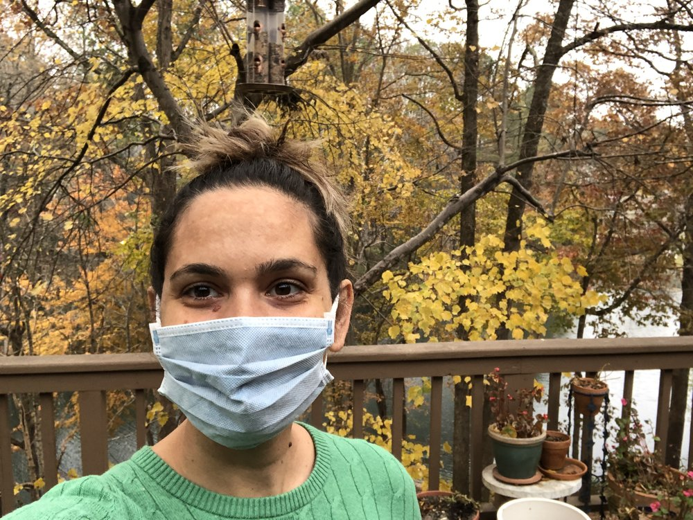 i wore a mask to make sure i didn't spread my illness