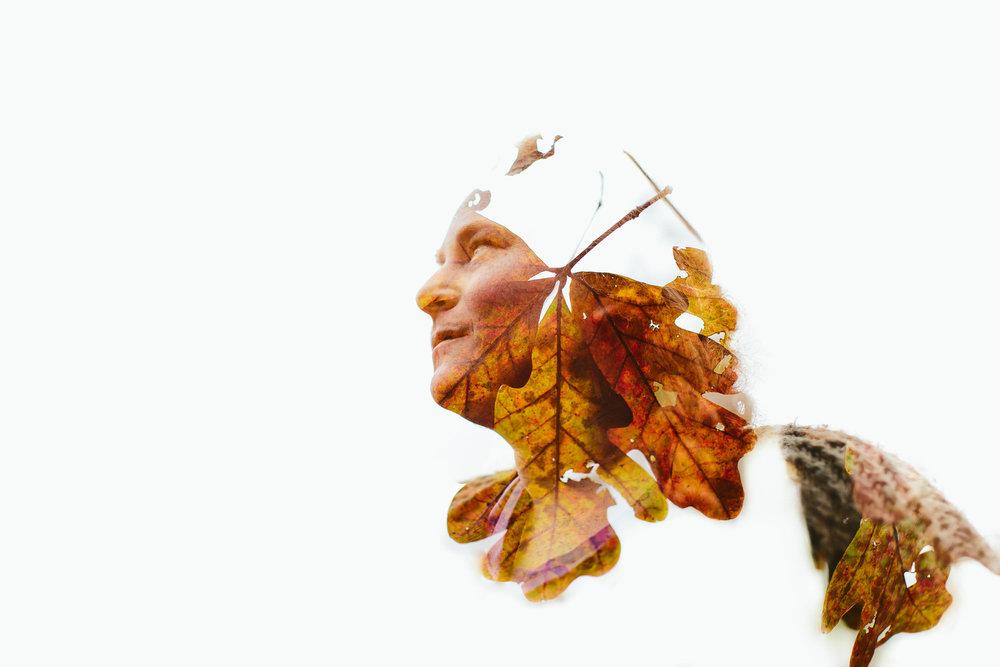 fall double exposure asheville portrait photographer