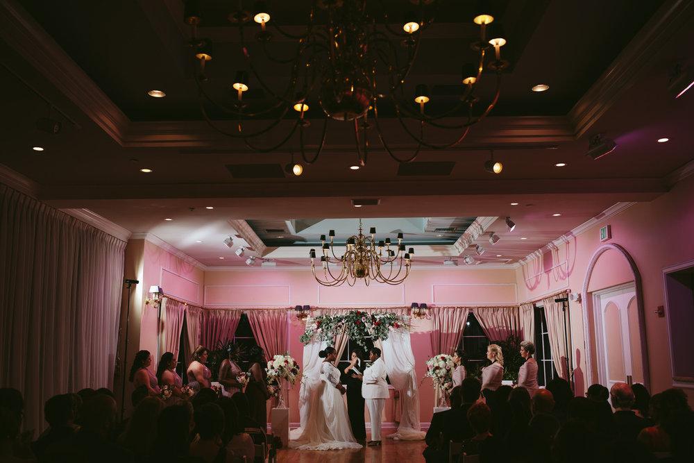 Same Sex wedding in the ballroom at Benvenuto