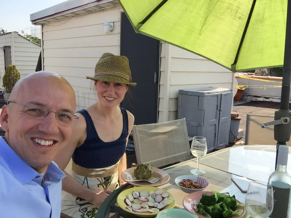 cooking, and eating on our roof terrace