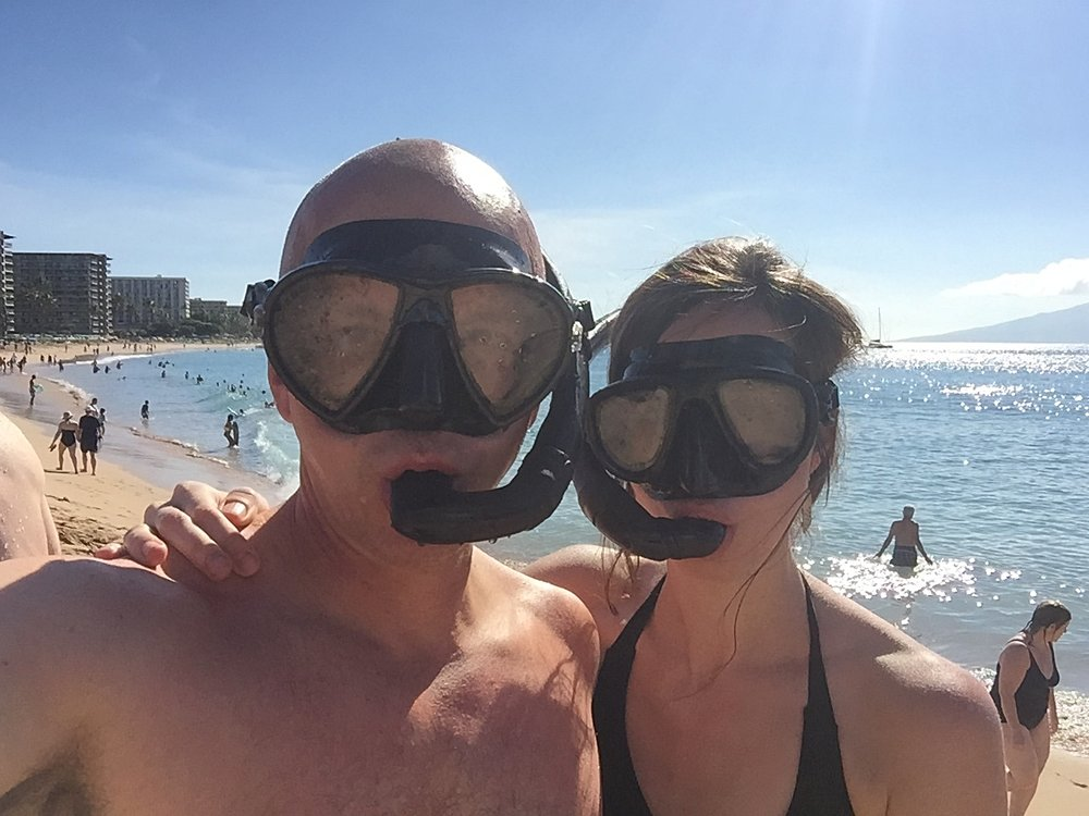 getting our snorkle on in Hawaii