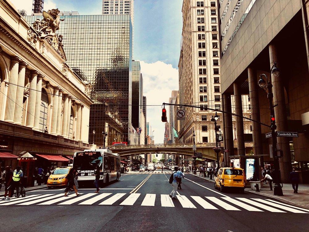 Image taken by Sara Kreski, Grand Central Terminal Street, 2018.