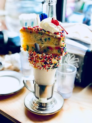 Image By Samantha McHenry Black Tap Birthday Cake Milkshake 2018