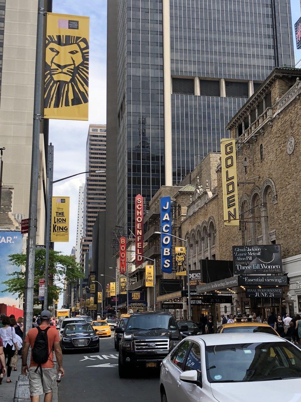 Image taken by Samantha McHenry, Broadway Theatres, 2018.