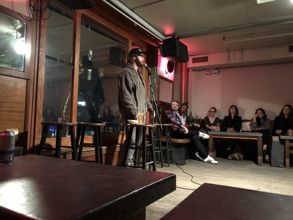 """Photo taken by Samantha McHenry, """"Tickling the Ivories"""" Free Stand-Up Comedy Show at Pianos, October 2018."""