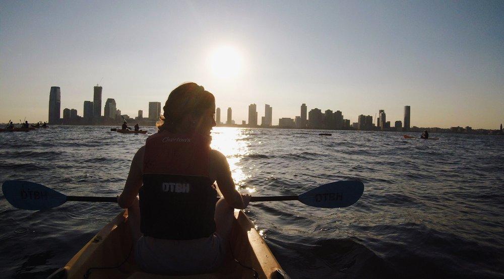 Photo taken by Sara Kreski, Kayaking on the Hudson River, September 2018.
