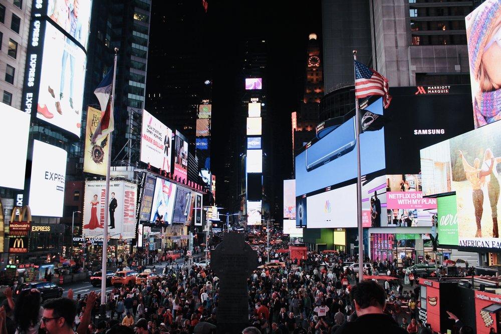 Photo taken by Sara Kreski, Times Square, October 2018.