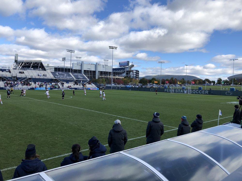 Image taken by Samantha McHenry. Penn State Soccer Field, October 2018.