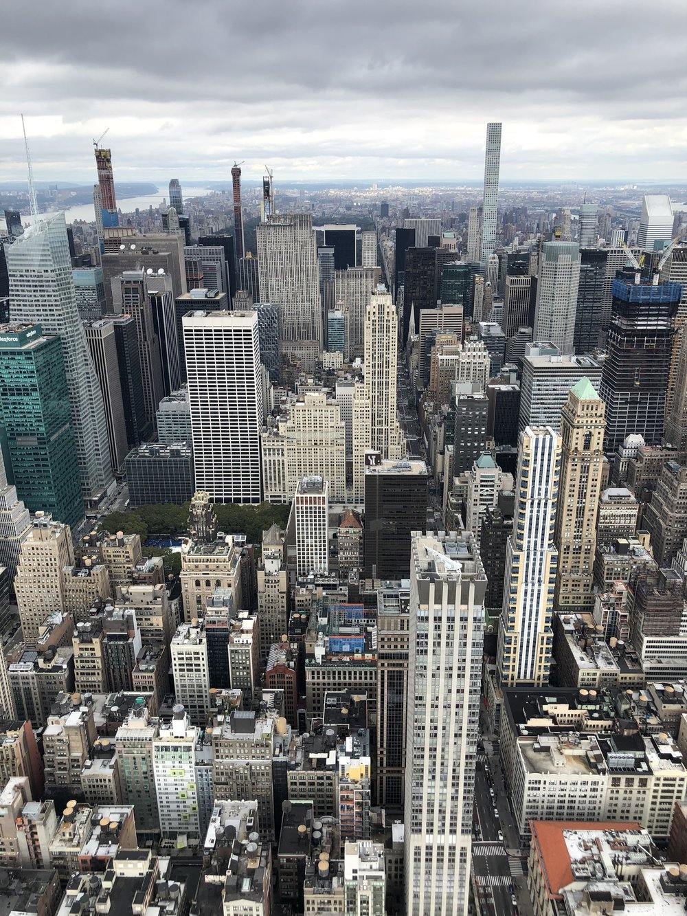 Photo by Jenni Johnson. View from the top of the Empire State Building, October 2018.