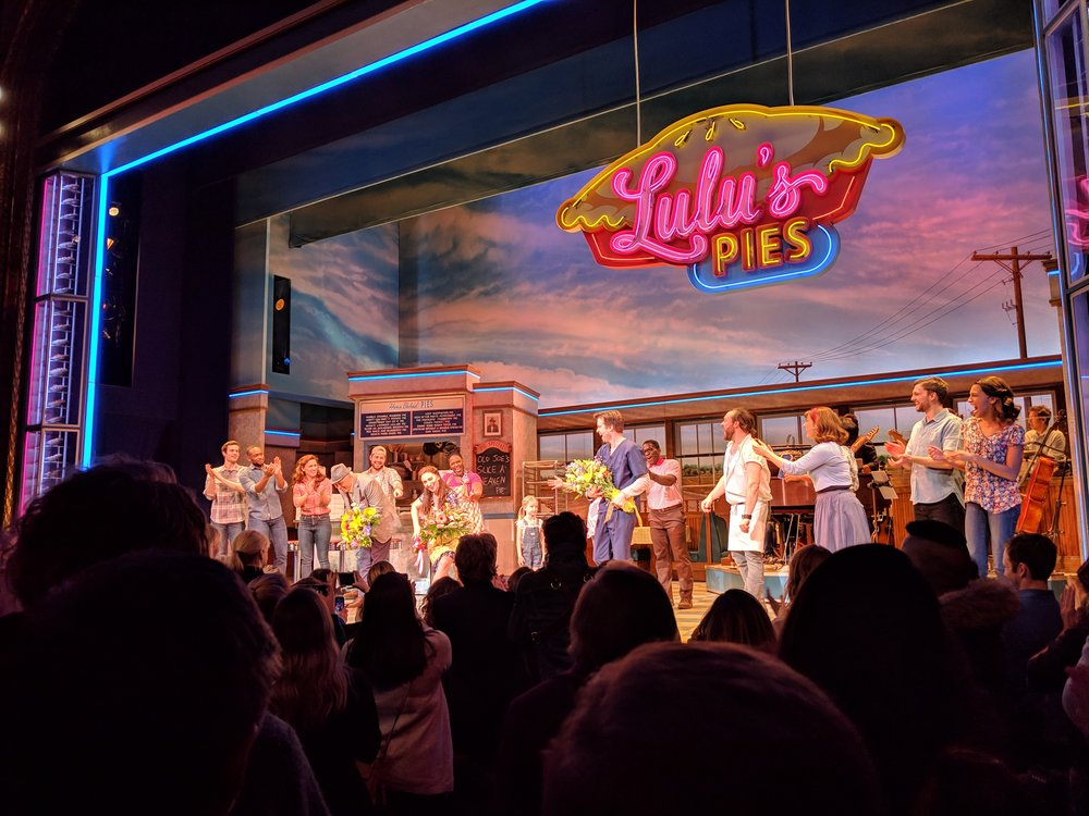 Waitress was written by Sara Bareilles and she actually acted in it the night we saw it!!! I'll be honest, Wicked is without a doubt still my favorite Broadway show, but Waitress was definitely worth it.