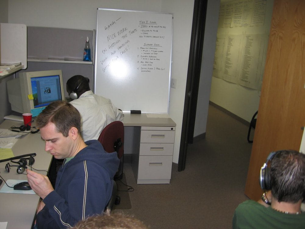 Infusionsoft support office circa 2006