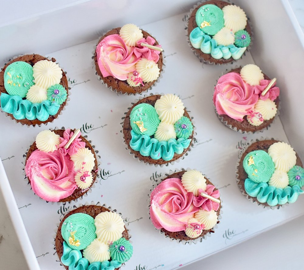 STANDARD SIZE BUTTERCREAM CUPCAKES  From $4.00 each  Minimum Order Quantity : 12 Per Flavour