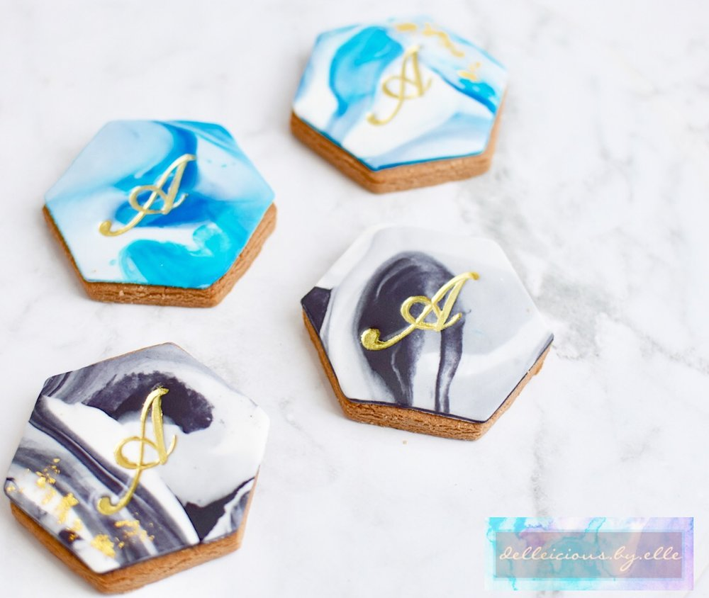 MONOGRAM CUSTOM FONDANT COOKIES  From $5.00 each  Pricing Varies Depending on Size  Minimum Order Quantity : 20