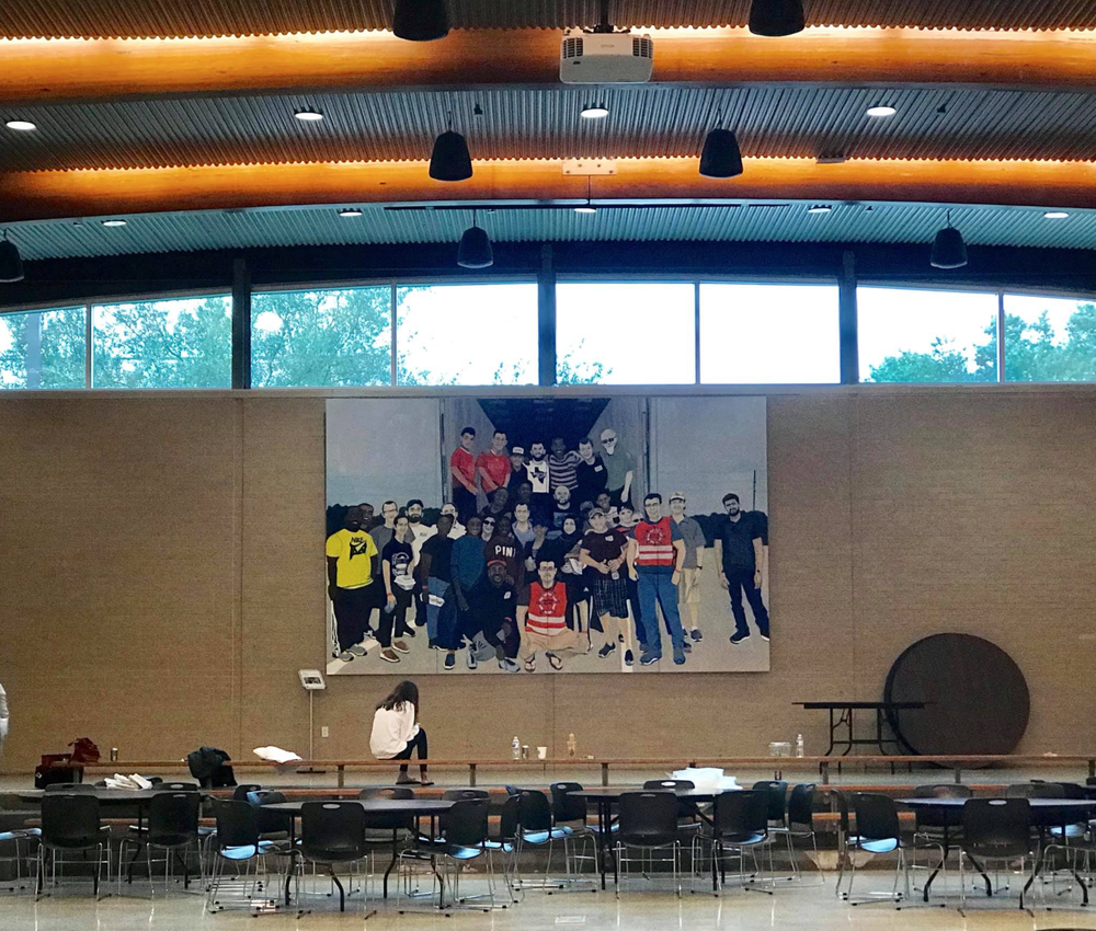 That was Harvey. This is Houston . on view at Strake Jesuit College Preparatory, the sixth pop-up stop on a year-long, grassroots, cross-city tour. Photo courtesy of Sarah Fisher.