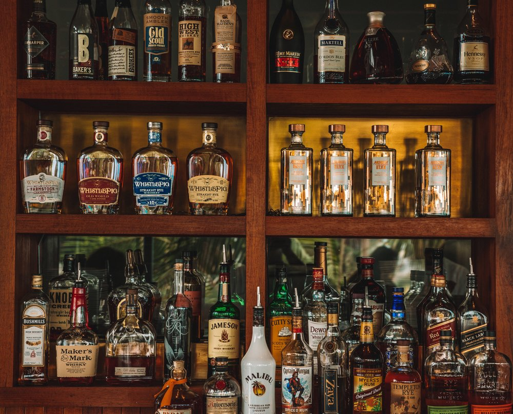 The Lobster's impressive Whiskey selection and full bar