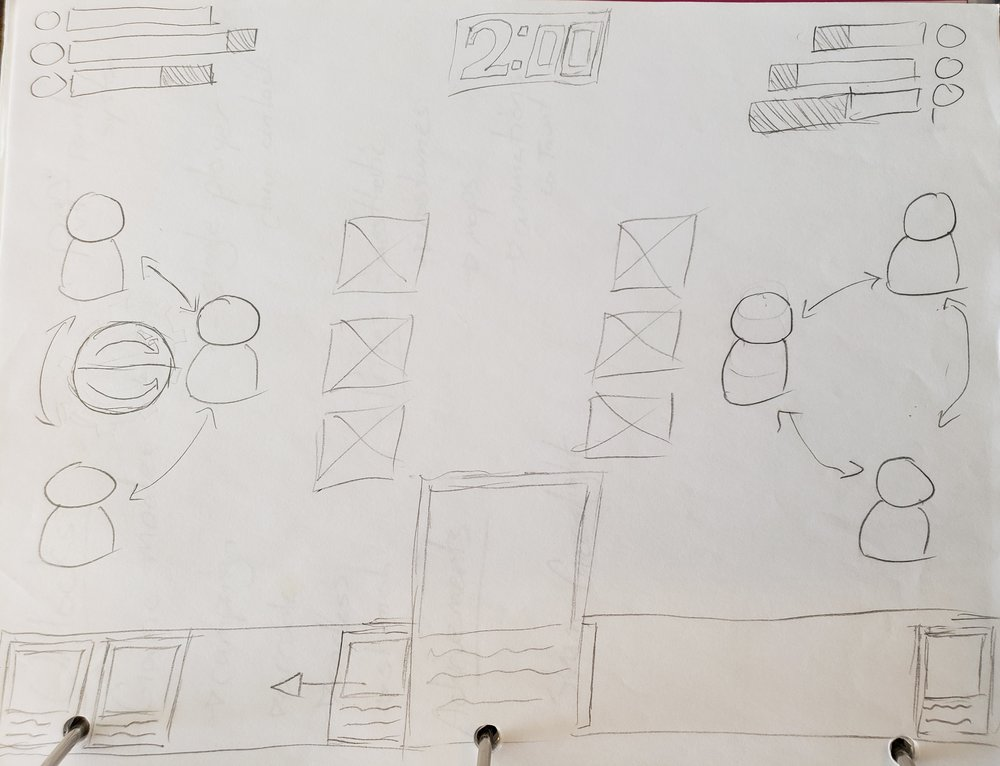 The original sketch for a game that was to become 'Sigils of Kairos'. See if you can notice all the design changes made since this was drawn.