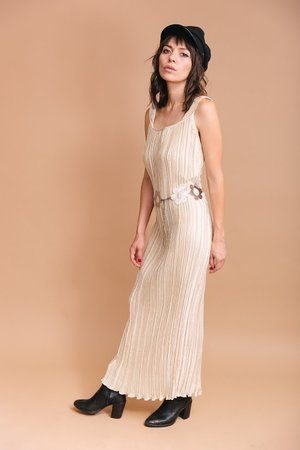2e5b4ab078d Stevie pleated  70s night gown ...