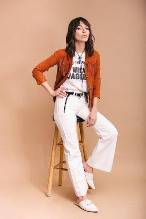 c7185fb83fb Vintage fringe suede jacket ...