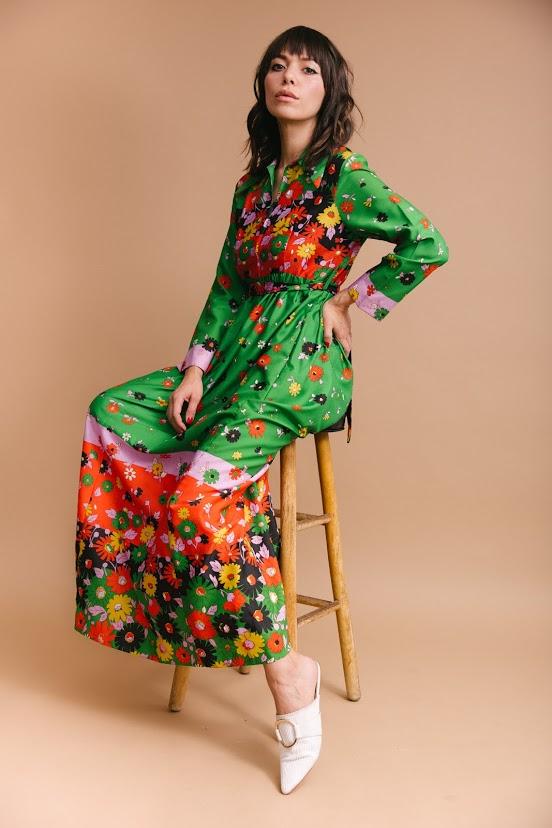 9374fb56579 Vintage  70s maxi dress — STONE TULIPS