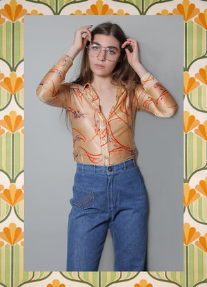 432949371d7 70 s printed button up ...
