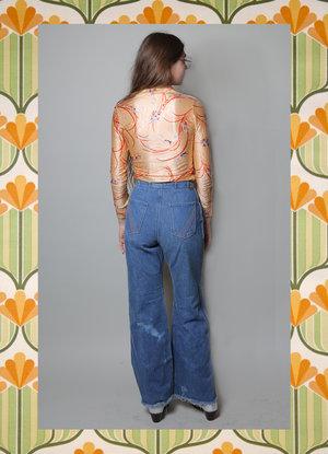 6edca8788a7 Flare Vintage wrangler jeans w  stitch detail ...