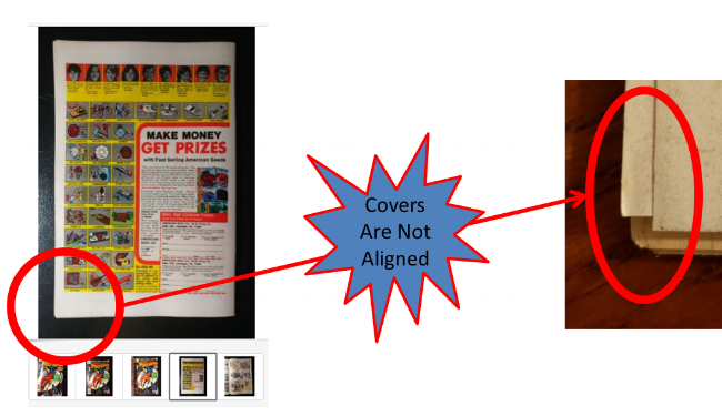 Tip #2to Identify a Fake Double Cover: The front andback covers aren't aligned #1