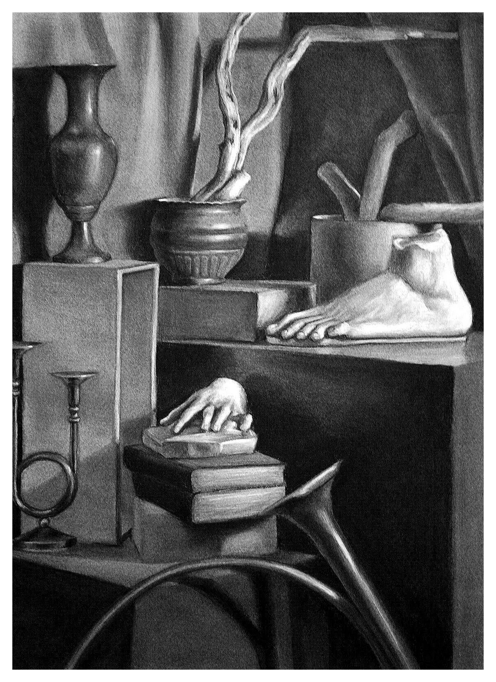 24 x 32 charcoal on paper