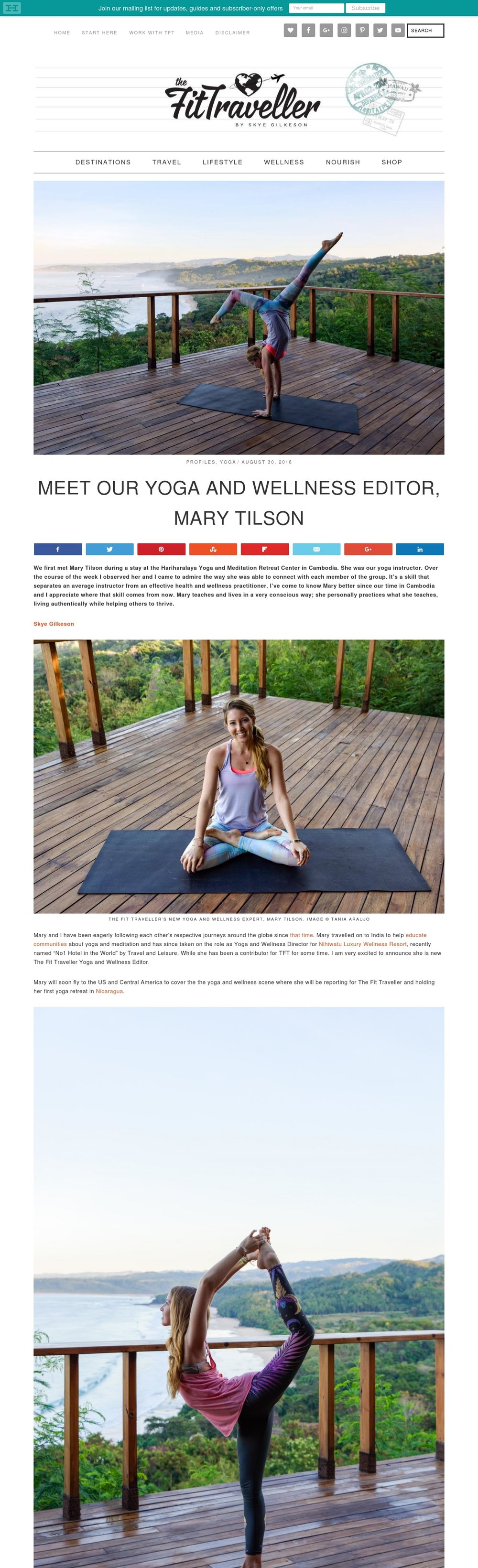 TFT: Yoga & Wellness Editor - Click to ready the story!