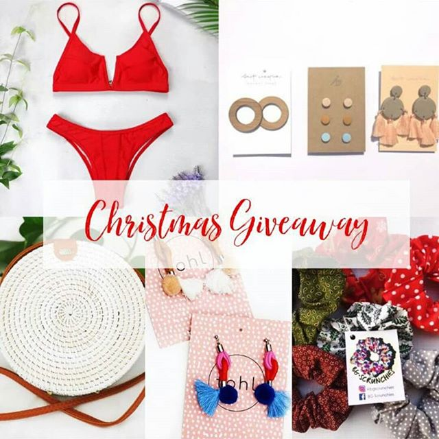 GIVEAWAY TIME!!🎄🎁🎅🏻 To celebrate the festive season, I have teamed up with some amazing Australian brands including @TheAzuraCollection @Britcreative @Sweetlittleboho @Tohlthelabel @Bgscrunchies to give you lovelies the chance to win some fab goodies for Christmas!! TO ENTER YOU MUST: ⭐️FOLLOW all the accounts below: @TheAzuraCollection @Britcreative @Sweetlittleboho @Tohlthelabel @Bgscrunchies ⭐️LIKE this post ⭐️TAG 3 friends in the comments, enter as many times as you like- the more entries the bigger the chance of winning! (Winner will be announced on the 17th of December at 7pm AEST. Competition is Worldwide! Good luck!!!🎉💛)
