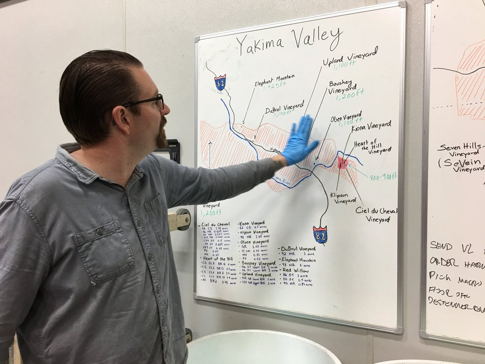 Louis Skinner of Betz, giving a tutorial on Yakima Valley