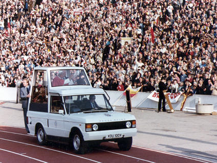 Pope John paul ii, 1982 at crystal palace national sports centre