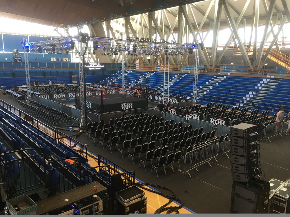 Boxing event at crystal palace national sports centre