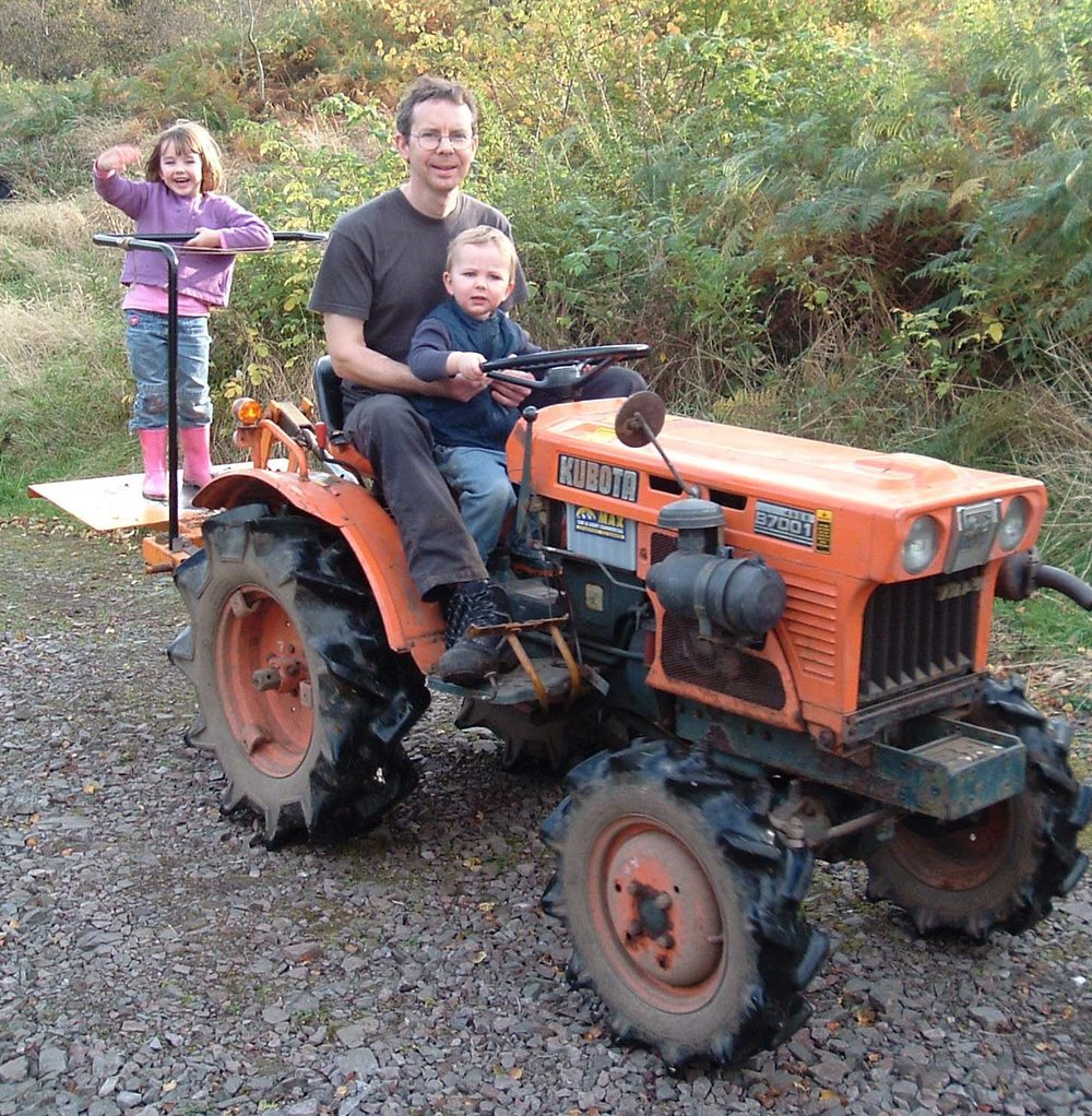 Rhona,Peter and Neil on the tractor