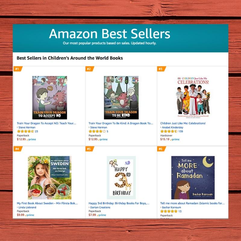 Amazon bestseller list childrens around the world