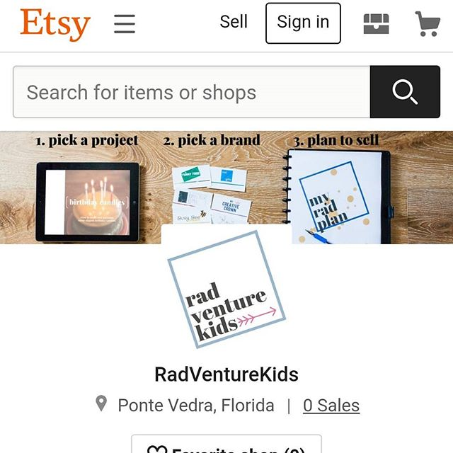 RadVenture Kids is Etsy official!! We have 1 project, 8 brands, and a kids business planner... All instant PDF downloads. I'm looking forward to adding more projects as quickly as possible.  Take a look and let me know what you think! Link in bio.  #newtoetsy #etsyfirsttimer #etsyseller