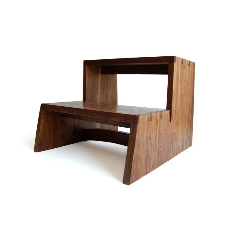 Walnut Step Stool