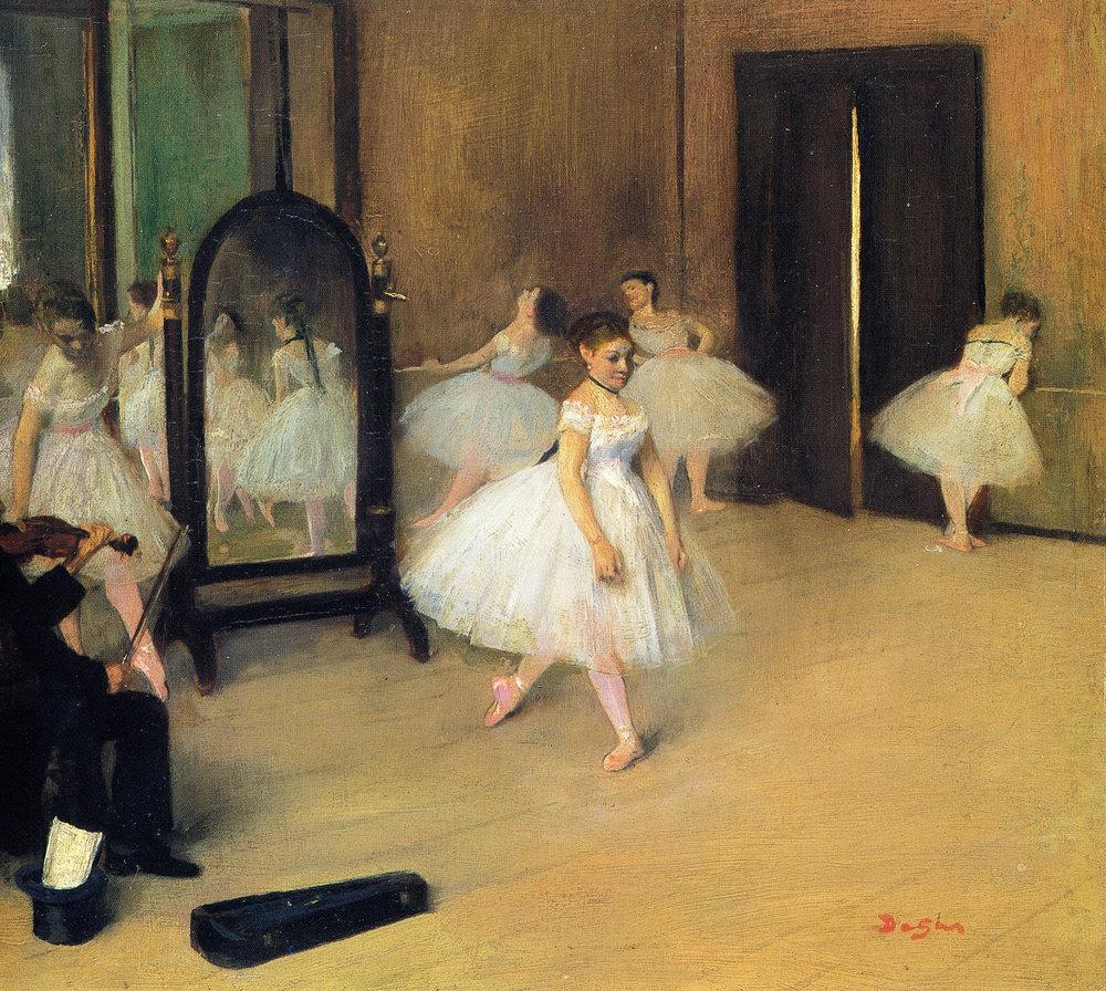 Edgar Degas, La classe de danse (The Ballet Class), 1871-74
